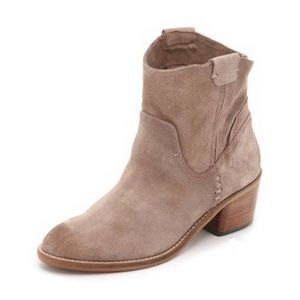 Dolce vita taupe suede western booties